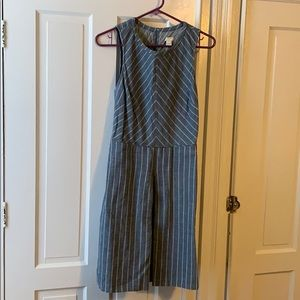 JCrew denim striped dress, size 8.